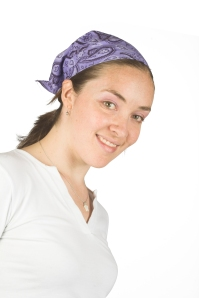 beautiful smiling girl with headscarf
