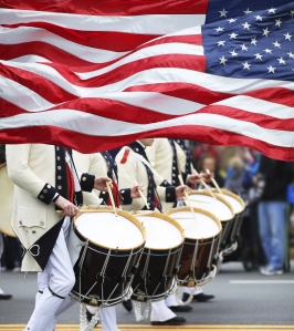 Patriots Day Parade in Lexington, MA