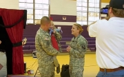 Soldiers surprise daughter reunion