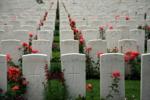 Tyne Cot brittish memorial cemetary of the first world war in Passendaele (Flanders Fields)