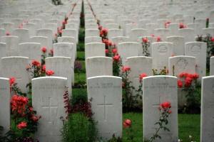 Tyne Cot brittish memorial cemetary of the first world war in Passendaele (Flanders Fields)