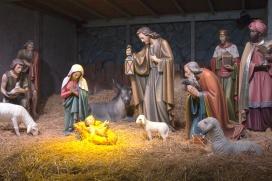 The Nativity scene.