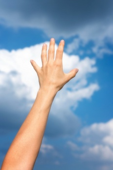 hand touch the sky