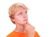 Teenager denkt